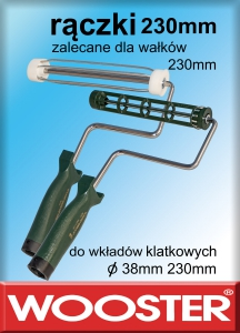 rączki do wałków 230mm 9""