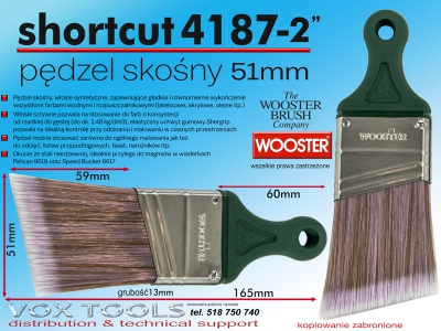 51mm pędzel skośny do odcięć 4187 ShortCut AS 2 Ultra/Pro Firm