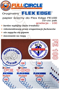 FE100-10 gr. 100 do FlexEdge, papier do gipsu 10-cio pak