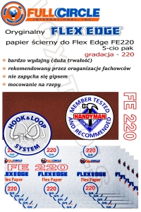 FE220-10 gr. 220 do FlexEdge, papier do gipsu 10-cio pak