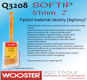 Q3208 AS SofTip  51mm 2 pędzel malarski skośny